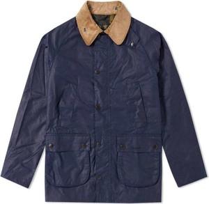 Niebieska kurtka Barbour krótka z bawełny