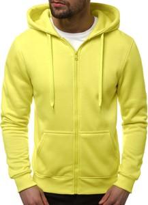 Żółta bluza producent niezdefiniowany z bawełny