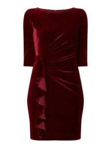 Czerwona sukienka Paradi z okrągłym dekoltem mini