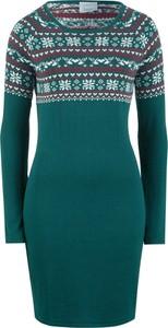 Zielona sukienka bonprix bpc bonprix collection