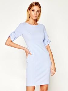 Sukienka DKNY prosta w stylu casual z okrągłym dekoltem