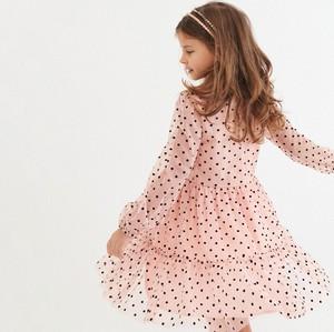 Różowa sukienka dziewczęca Reserved w groszki