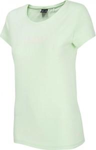 Zielony t-shirt 4F w sportowym stylu z okrągłym dekoltem z krótkim rękawem