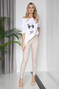 T-shirt Maravilla Boutique z okrągłym dekoltem