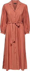Sukienka Selected Femme z kołnierzykiem z długim rękawem