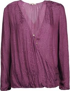 Bluzka Patrizia Pepe z jedwabiu z długim rękawem