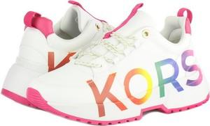 Buty sportowe Michael Kors z płaską podeszwą sznurowane