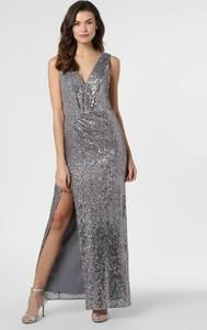 Srebrna sukienka Marie Lund bez rękawów z dekoltem w kształcie litery v prosta