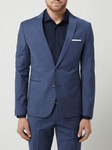 Niebieski garnitur Cinque z wełny