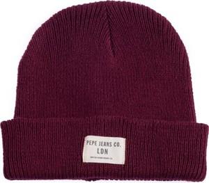 Czerwona czapka Pepe Jeans