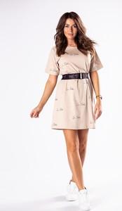 Sukienka Ptakmoda.com z bawełny z krótkim rękawem