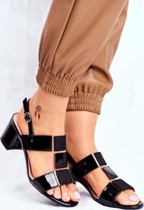 Sandały Sergio Leone z klamrami