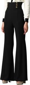 Czarne spodnie Elisabetta Franchi w stylu retro