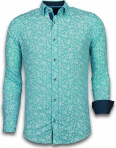 Niebieska koszula TONY BACKER