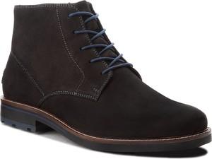 Brązowe buty zimowe Lasocki For Men z nubuku w stylu casual