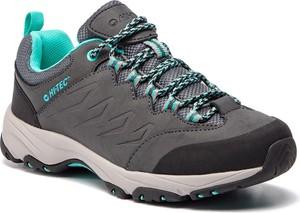 Brązowe buty sportowe Hi-Tec sznurowane z płaską podeszwą