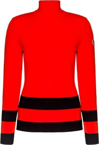 Czerwony sweter Fusalp w stylu casual z dzianiny
