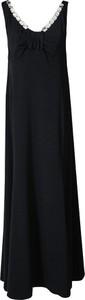 Sukienka Fokus z dekoltem w kształcie litery v maxi z satyny