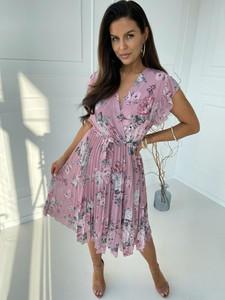 Sukienka Versada midi z dekoltem w kształcie litery v