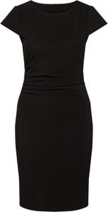 Czarna sukienka Vero Moda z krótkim rękawem mini