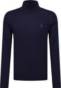 Niebieski sweter POLO RALPH LAUREN z wełny