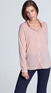 Różowa koszula Nife w stylu klasycznym
