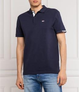 Niebieski t-shirt Tommy Jeans w stylu casual