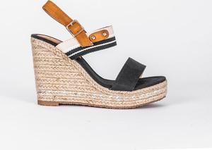 sandały damskie plecione ze sznurka