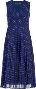 Granatowa sukienka Pennyblack bez rękawów z dekoltem w kształcie litery v