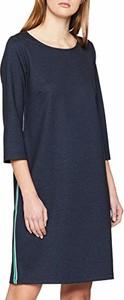 Sukienka amazon.de z okrągłym dekoltem z długim rękawem