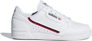 Trampki Adidas Originals niskie z płaską podeszwą ze skóry