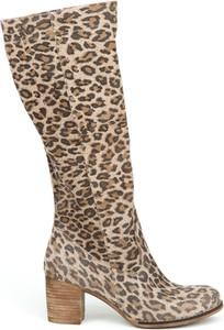 Kozaki Zapato ze skóry w stylu boho na obcasie