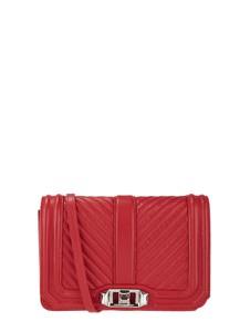 Czerwona torebka Rebecca Minkoff w stylu glamour ze skóry