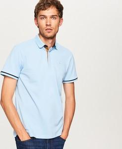 Niebieska koszulka polo Reserved