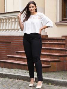 Spodnie KARKO w stylu klasycznym z dzianiny