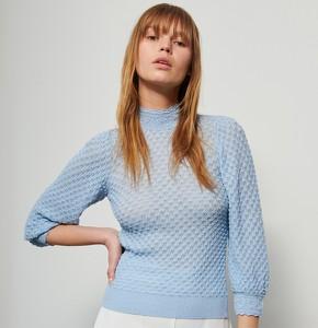 Niebieska bluzka Reserved w stylu casual z długim rękawem