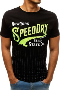 T-shirt Dstreet z bawełny z krótkim rękawem z nadrukiem