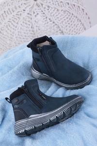 Granatowe buty dziecięce zimowe Casu