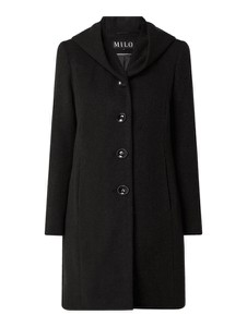 Czarny płaszcz Milo Coats z wełny w stylu casual