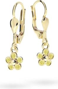 Cutie jewellery kolczyki dla dzieci cutie kwiatki c2744 żółtego, yellow, zapięcie patentowe