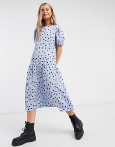 Niebieska sukienka Influence midi