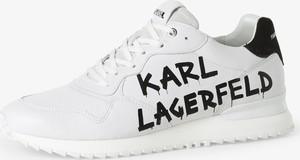 Buty sportowe Karl Lagerfeld sznurowane z tkaniny w sportowym stylu