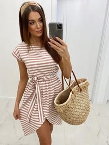 Sukienka Infinityfashion.pl w stylu casual mini z krótkim rękawem