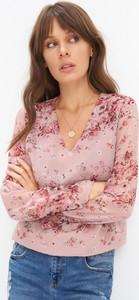 Różowa bluzka Mohito z szyfonu
