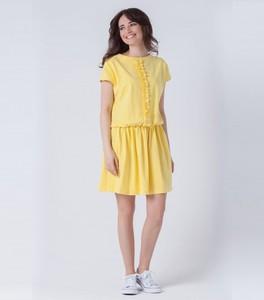 Sukienka butik-choice.pl z okrągłym dekoltem z bawełny