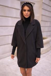 Płaszcz Popatu w stylu casual z wełny