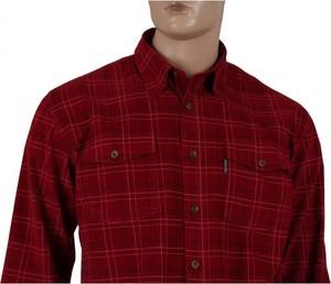 Czerwona koszula Dockland z bawełny