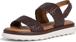 Sandały Tamaris ze skóry