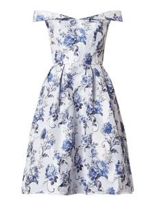 Niebieska sukienka Chi Chi London z krótkim rękawem mini
