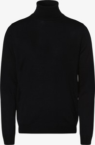 Czarny sweter Finshley & Harding z wełny w stylu casual